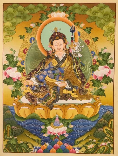 Guru-Rimpoche-Padmasambhava-Thangka-500x659