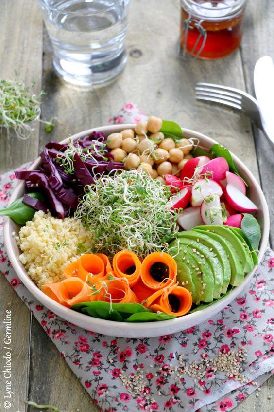 graines germées repas